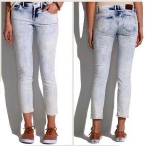 Madewell Skinny Skinny Crop Jeans in Light Storm